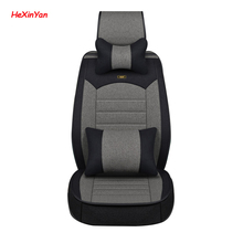 цена на HeXinYan Universal Flax Car Seat Covers for Ford all models ecosport figo focus mk2 fiesta mk7 s-max mondeo mk4 explorer
