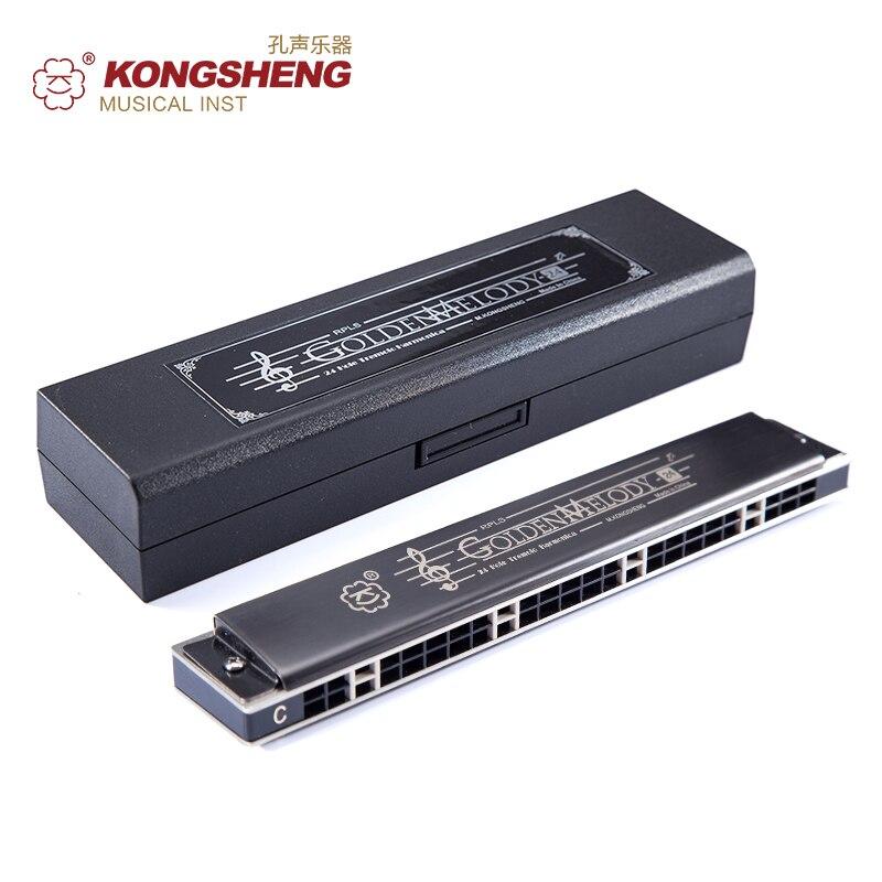 KONGSHENG 24 Trous harmonica professionnel performance Orgue à Bouche À Vent Instruments aute qualité Touche Musicale de C/D/E/F/G/A/B