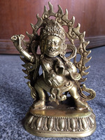 China brass Copper Buddhist Mahakala dharma king kong buddha statue,Free Shipping Home decoration metal crafts, gifts