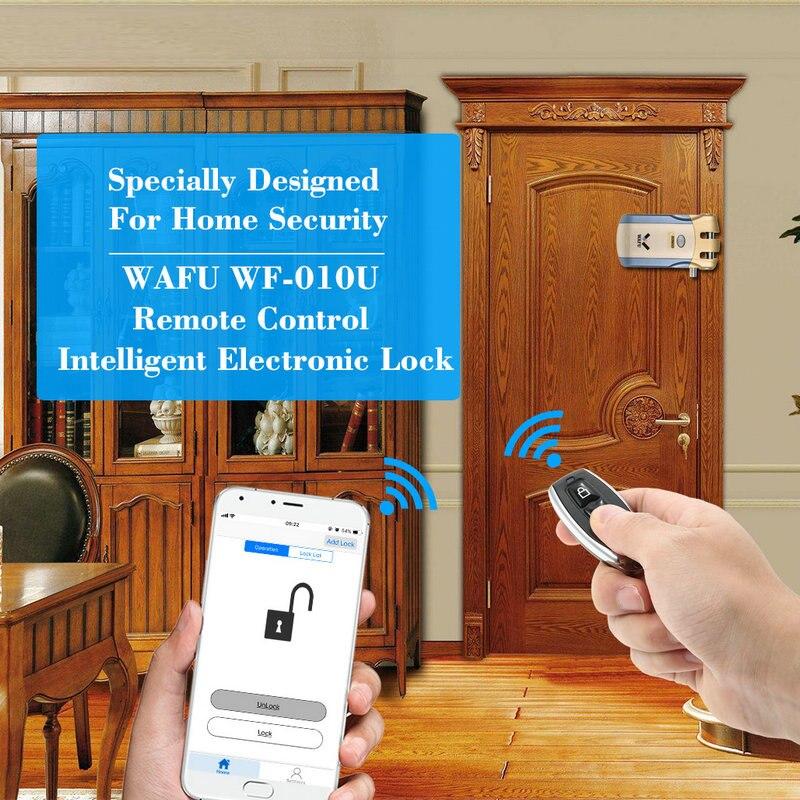 WAFU WF 010U Invisível de Segurança Sem Fio Porta de Entrada Keyless Bloqueio Inteligente iOS APP Android Desbloqueio com 4 Chaves Remotas - 6