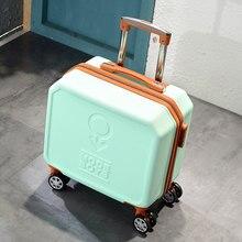 4601edc34 Mini moda equipaje de viaje bolsa de hombres y mujeres de 18 pulgadas  equipaje trolley pequeño contraseña Caja popular Estilo vi.