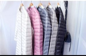 Image 5 - NewBang Brand Down jacket female Long Duck Down Jacket Women Lightweight Warm Linner Slim Portable Single Breasted Coat