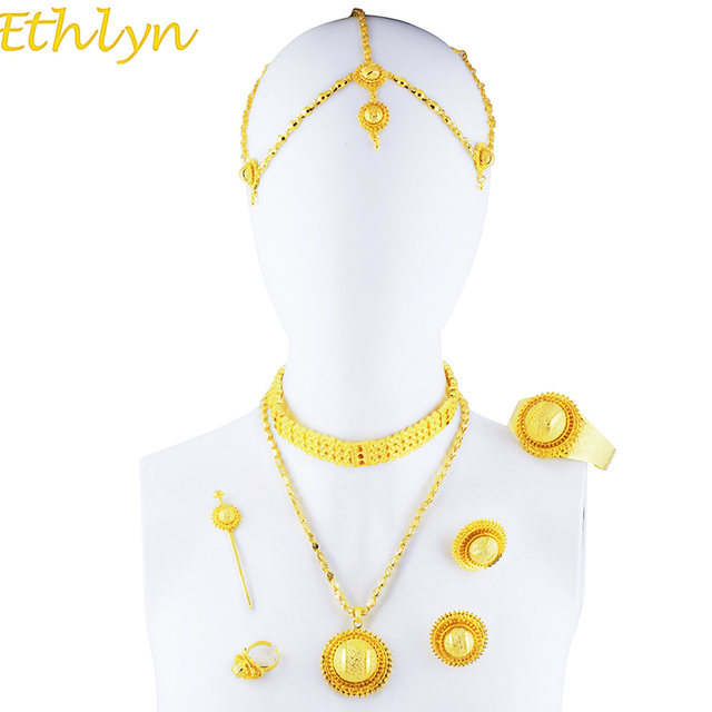 Ethlyn Luxury Ethiopian Eritrean Traditional Jewelry Choker Sets