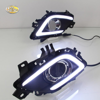 SNCN LED Daytime Runnning Lights For Mazda 6 2013 2016 Fog Lamp Cover With Yellow Turning