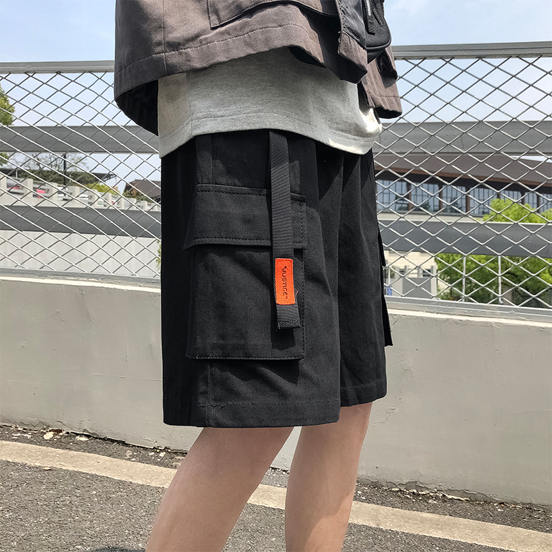 2019 M-2XL Summer Korea Style Streetwear Trousers Fashion Cargo   Shorts