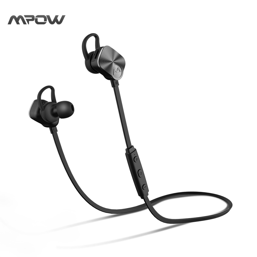 New! Mpow Coach Wireless Bluetooth 4.1 Headphones Stereo Noise Cancelling Sweat-proof handsfree sports Metal Headset headphone wireless headphones earbuds built in microphone stereo headphone headset handsfree noise canceling handsfree bluetooth 4 1 bt815