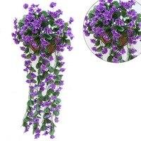 1 шт. искусственные цветы для Свадебные украшения дешевые искусственные шелковые цветы Главная гирлянда поддельные висит растений вечерин...