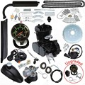 Модернизированный 80cc 2 инсульта моторизованный велосипед газового комплект моторного двигателя со спидометром черный низкий Шум низкая ви...