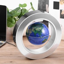 LED World Map Novelty Magnetisk Levitation Floating Globe LED Flytande Tellurion Med LED Light Home Decoration Office Ornament