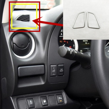 Для Nissan Navara NP300 нержавеющая сталь приборной панели автомобиля на выходе Декоративные крышка Стикеры аксессуары 2 шт