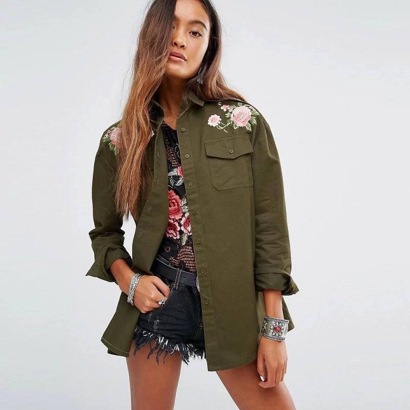 Compra mujeres de la chaqueta verde militar online al por