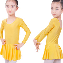 Long sleeved Spandex Gymnastics Leotard for Girls Ballet Dre