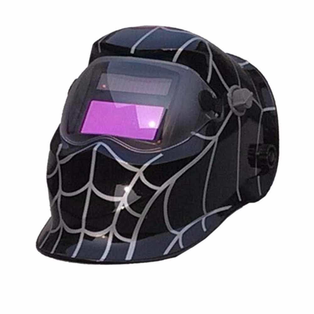 ZZW-BK Spider Web Big Sreen Solar LI battery Auto Darkening TIG MIG MMA MAG Electric Welding Mask/Helmets/Welder Cap stepless adjust solar auto darkening electric welding mask helmets welder cap eyes glasses for welding machine and plasma cutter