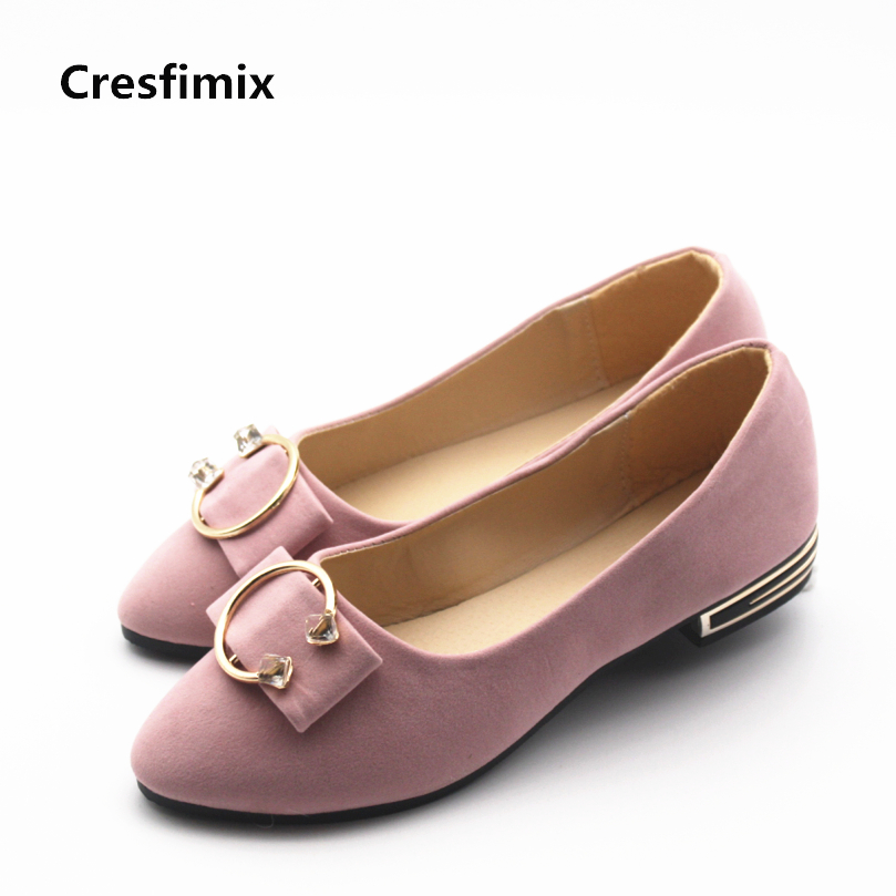 Cresfimix zapatos de mujer women casual spring and summer slip on flat shoes lady cute slip on flats female pink office shoes indesit iwub 4105