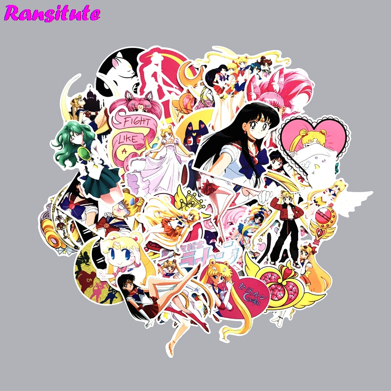 75pcs/set Sailor Moon Anime Cartoon Sticker DIY Luggage Laptop Skateboard Motorcycle Bike Sticker