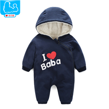 YiErYing Baby Clothing Autumn And Winter Baby Rompers Long Sleeves Cotton Hooded Infant Clothes Cartoon Newborn Jumpsuits mikistory fashion baby lion costumes long sleeves infant cosplay clothes cotton cute cartoon rompers hooded boys girls jumpsuits