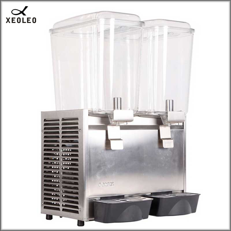 XEOXEO Double Tanks Hot Drink Dispenser 18L*2 Spray Hot Drink Machine Fruit Juice Dispenser 200V Two Jars  Beverage Machine