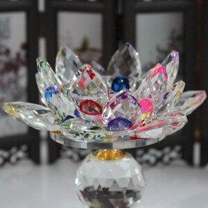 Image 3 - XINTOU portavelas de Metal con diseño de flor de loto, candelabros con diseño de flor de loto, decoración para el hogar Feng Shui