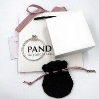 2019 NEW Charm logo Engraving 100% silver bangle 925 pandoras bracelets for women jewelry ,1pz