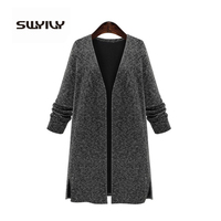 SWYIVY Cardigans Knitted black autumn Plus Size 5XL Women Sweater Cardigan Women 4XL Cardigan