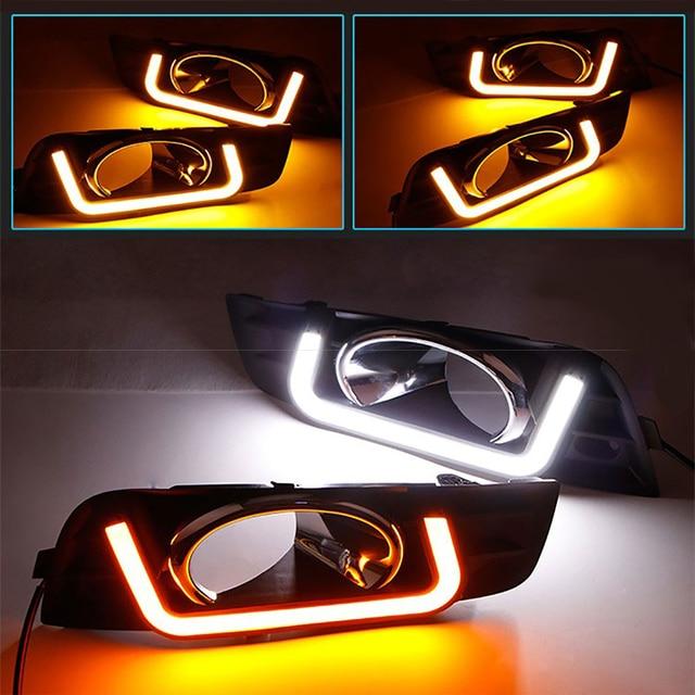 New U style LED daytime running light drl for Chevrolet Cruze better quality Fog lamp guide day light yellow white accessory