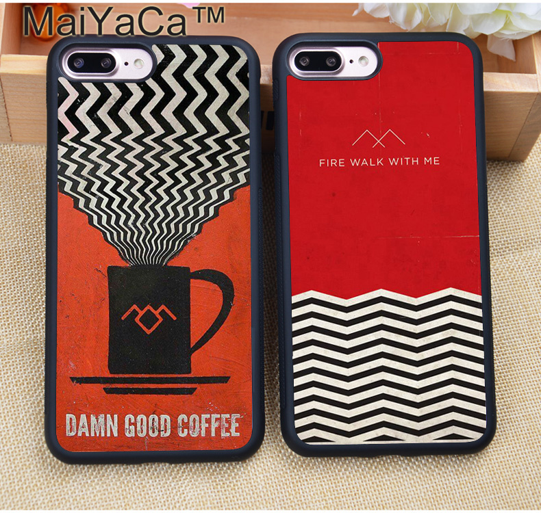 MaiYaCa TV Series Twin Peaks Printed Protective Soft TPU Phone Case For iPhone 8 6 6S Plus 7 7Plus X 5 5S 5C SE Capa Para Cover