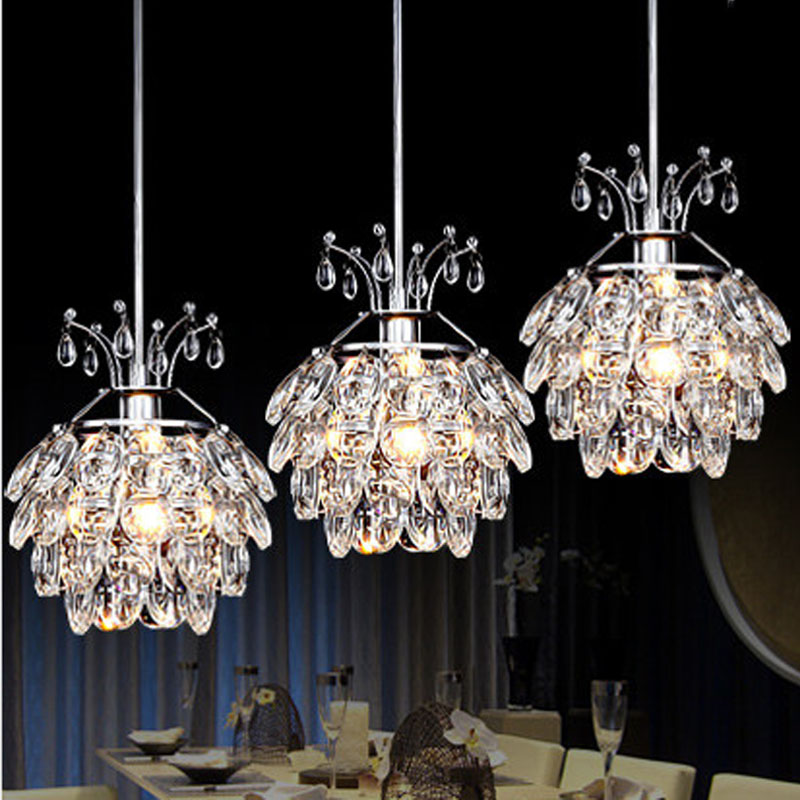 T Simple Creative LED Restaurant Crystal Pendant Light For Home Modern Lamps Living Room Bedroom Bar Coffee shop DHL Free bicycle shape led modern crystal pendant lamps unique creative latest popular style led pendant light free shipping