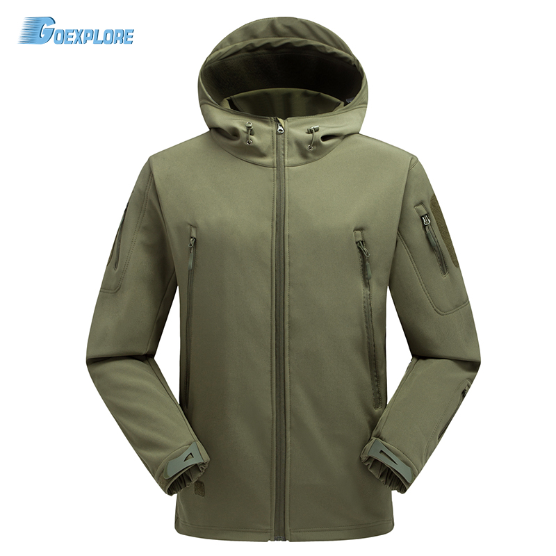 Autumn Spring Jackets Tactical Soft Shell Camouflage Outdoor Jacket Army Sport Clothes Military hunting jacket for mens tactical gear soft shell camouflage outdoor jacket men army waterproof hunting clothes sport windbreaker military jacket coat
