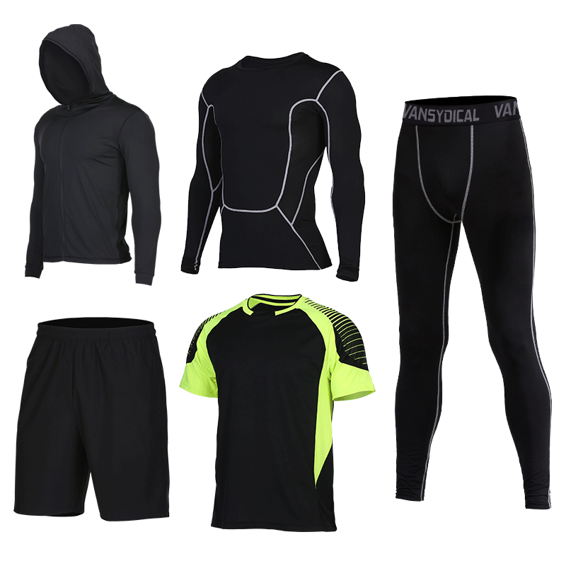 2017 New Compression Sport Suits Men's Fitness Running Sets Basketball Tracksuit Clothes Quick Dry Gym Jogging Men's Sport Suits new arrival yel quick dry workout sport suit women 3pcs yoga sets jacket pant bra jogging suits fitness gym tracksuit clothing