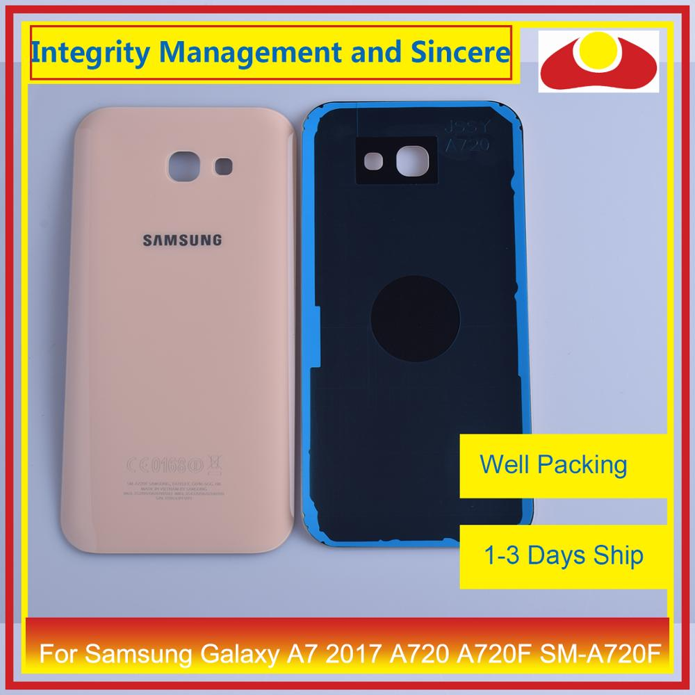 Image 2 - 50Pcs/lot For Samsung Galaxy A7 2017 A720 A720F SM A720F Housing Battery Door Rear Back Cover Case Chassis Shell Replacement-in Mobile Phone Housings & Frames from Cellphones & Telecommunications