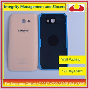 Image 2 - Orijinal Samsung Galaxy A7 2017 A720 A720F SM A720F batarya muhafazası kapı arka arka kapak kasa şasi kabuk değiştirme