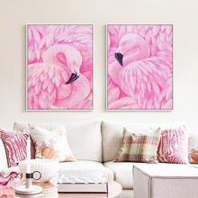 hot deal buy nordic flamingo animal poster a4 canvas print big wall art picture modern wall art print posters home decor painting no frame