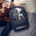 New Fashion One Piece Luminous Backpack Students Black Big Capacity Backpack HBE76