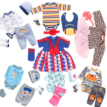 All Cotton Clothes For Baby Born Doll Dress Fit for 18-23 inches 45-58cm High Quality Reborn Dolls Dress#E