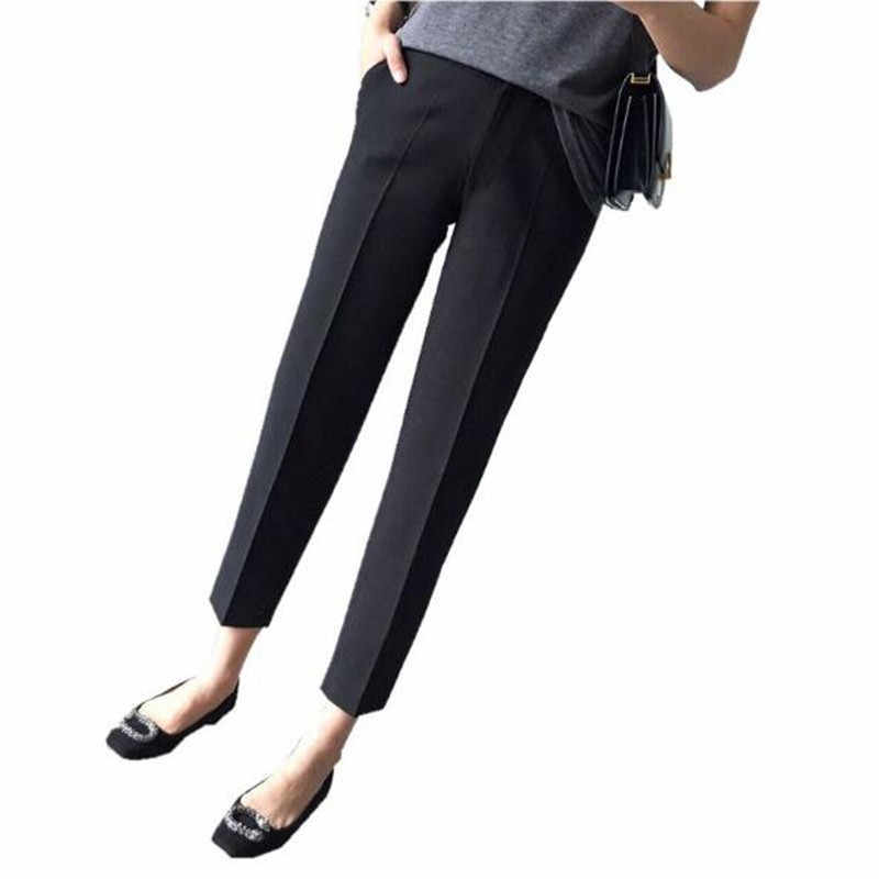 Maternity Pants Trousers For Pregnant Women Wear Easy Casual Pants Pregnancy Clothes Overalls Ninth Pants Pregnancy Pants QV875