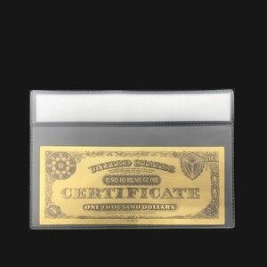 Золотая банкнота Wishonor, 24k цветная Золотая банкнота, 1878 американская банкнота, 1000 долларов, с пластиковой рамкой для подарка и коллекции