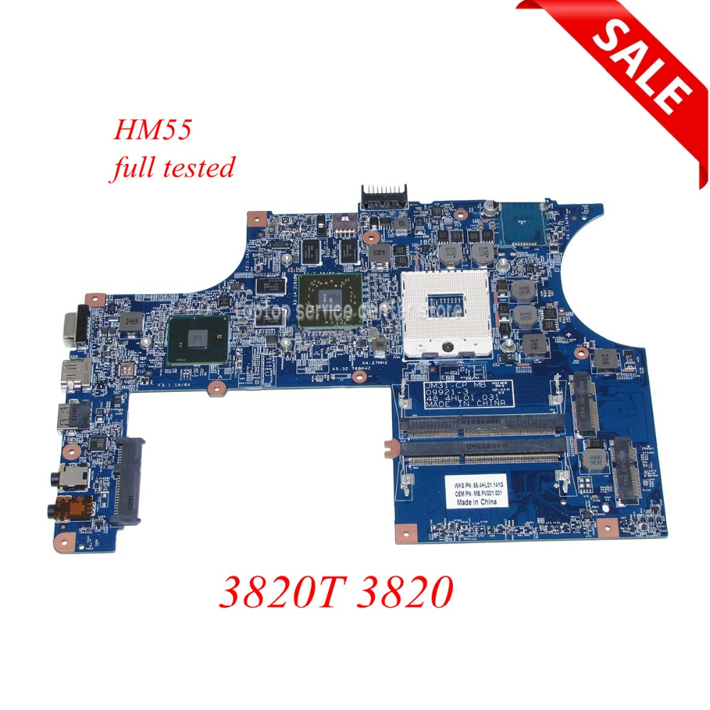 NOKOTION MBPV001001 Laptop Motherboard For acer aspire 3820T 3820 JM31-CP MB 09921-3 48.4HL01.031 HM55 DDR3 ATI HD5650 works nokotion mb nc806 001 da0zrcmb6c0 rev c mbnc806001 for acer aspire e732 e732z motherboard hm55 ddr3 ati hd 5470