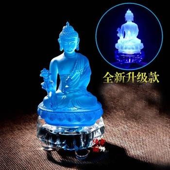 TOP GOOD Buddhist supplies # Buddhism Buddha purple crystal the Medicine Buddha# Bless Safe good luck efficacious Protection