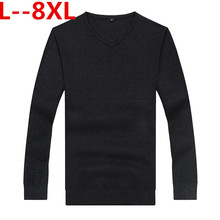 LONGHONGYU Plus size 8XL 6XL 5XL Autumn Winter Christmas Sweater Male Long Sleeve