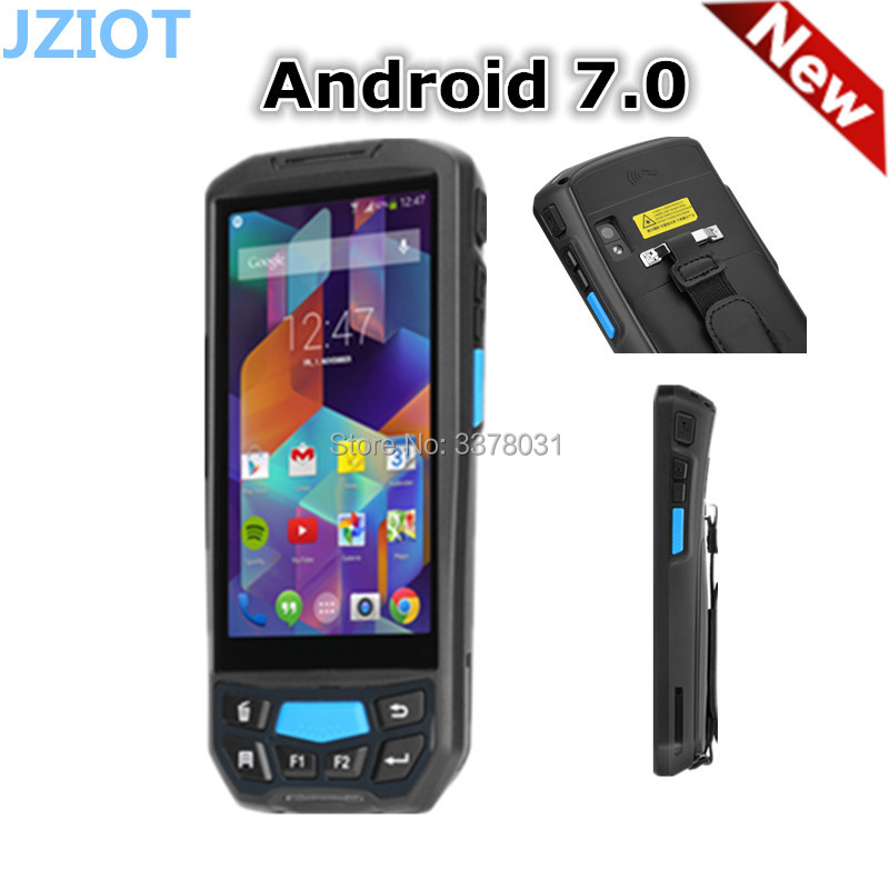 4g Bluetooth Android Handheld Barcode Scanner Pda, Android 1d 2d Barcode Kaartlezer Printer Met Display Grondstoffen Zijn Zonder Beperking Beschikbaar