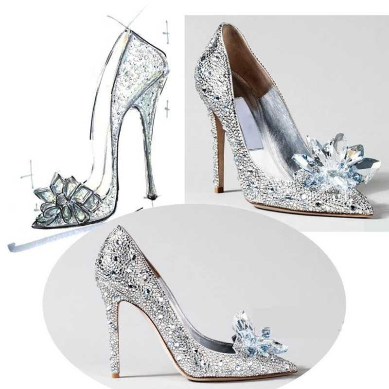 Çiçek ayakkabı dekorasyon kristal lüks kadın giyim Charms DIY yüksek topuklu sandalet pompalar beyaz 1 adet yeni