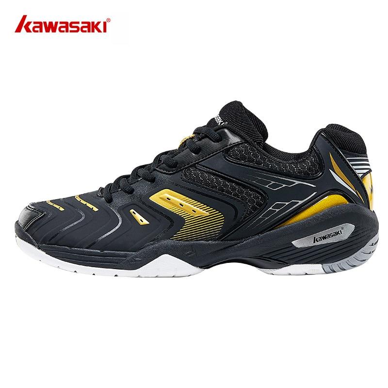 Kawasaki Badminton Shoes for Men Orange Professional Indoor Court Sports Sneakers Anti Slippery Hard Wearing K