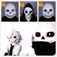 Jeu sous-conte Cosplay Sans Latex masques lumineux casques Halloween unisexe pour adulte fantaisie balle Sans Latex casque accessoires