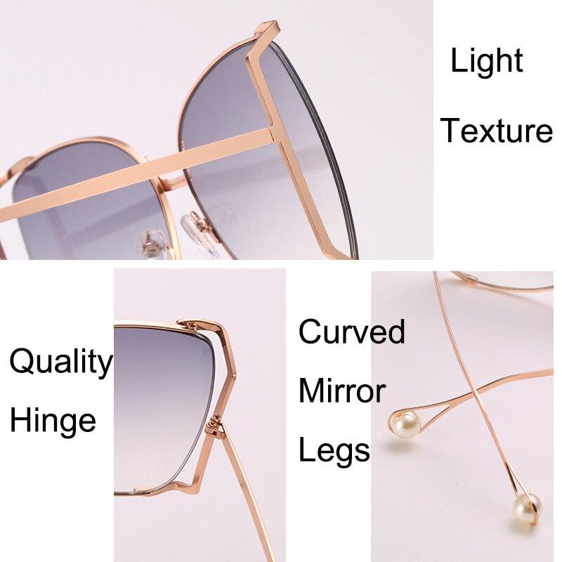 Womens Butterfly Metal Foliage Jewel Hinge Designer Sunglasses