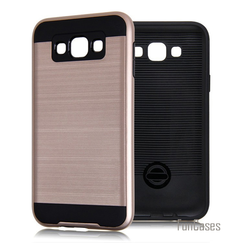 V5 hybrid 2-in-1 silicone armor case for samsung galaxy j1 j3 j5 j7 2016 j2 j1 plastic case anti knock brushed phone covers