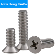 Phillips Flat Head Cross Recessed Screw Countersunk Thread Metric Machine Bolt 304 Stainless Steel M8
