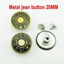 30 шт. 20 мм буквы бронзового тона металлические кнопки для джинсов круглые пуговицы 20 мм аксессуары для одежды JMB-153