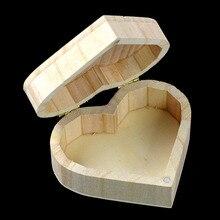 Novedad 2019 cajas de madera pequeñas baratas organizadoras con forma de corazón para guardar cajas de madera vintage Cajas de Regalo de madera