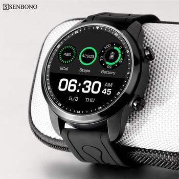 SENBONO KC03 4G RAM 1GB ROM 16GB Android 6.0 1.3 inch IPS LCD sport smart watch support GPS Waterproof