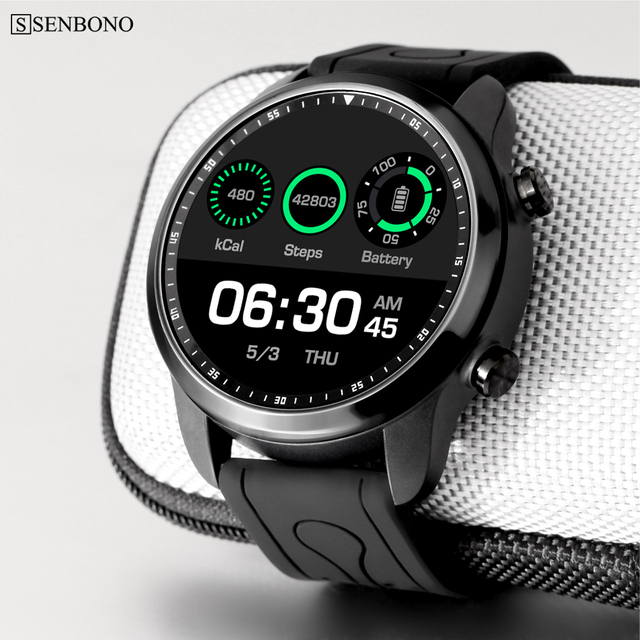 US $85 2 29% OFF|SENBONO KC03 4G RAM 1GB ROM 16GB Android 6 0 1 3 inch IPS  LCD sport smart watch support GPS Waterproof -in Smart Watches from
